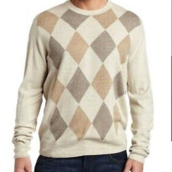 Dockers Other - DOCKER'S Men's Lg Sweater Crewneck Tan Argyle Soft